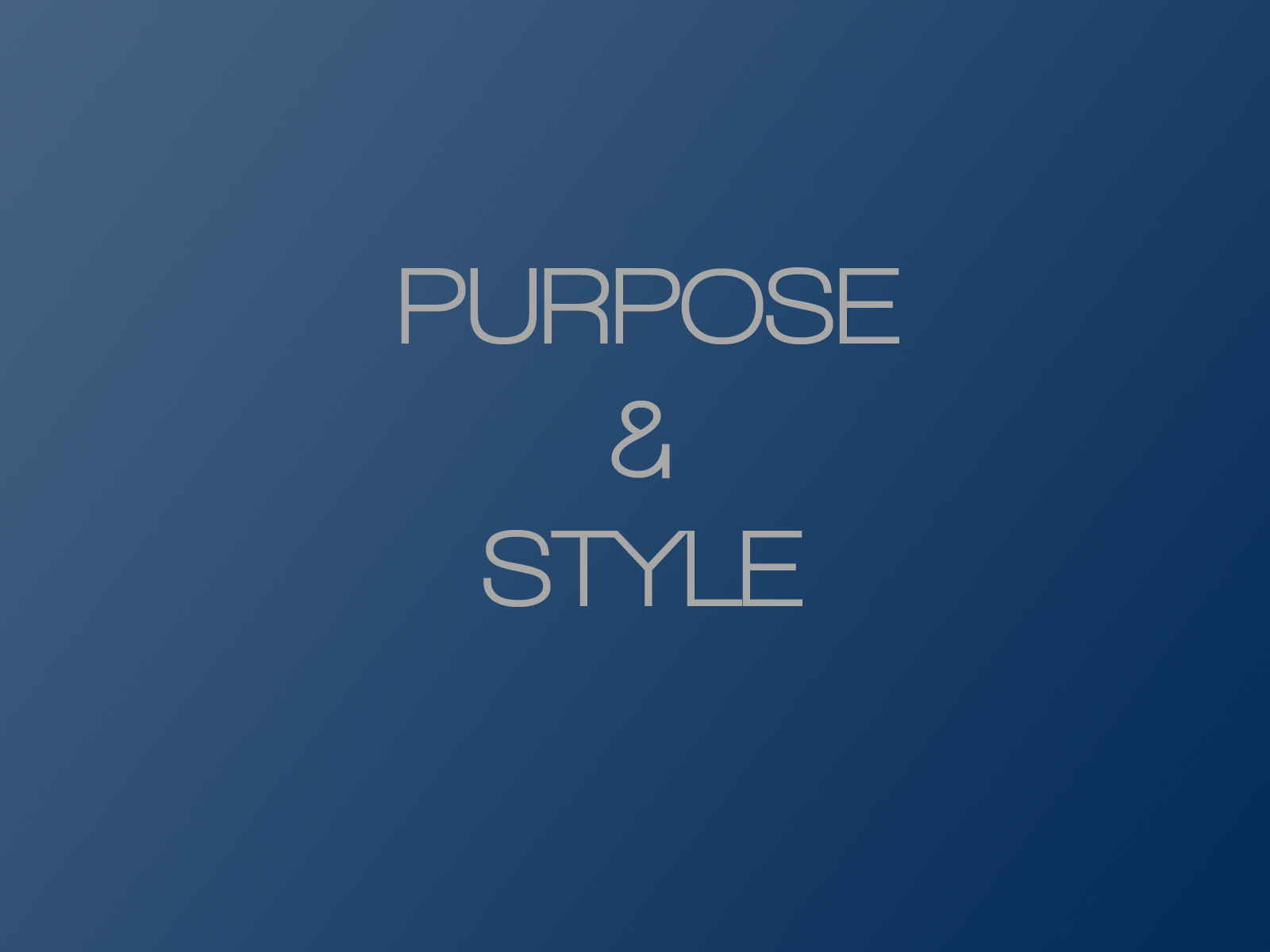 PowerPoint Design – 2 – Purpose