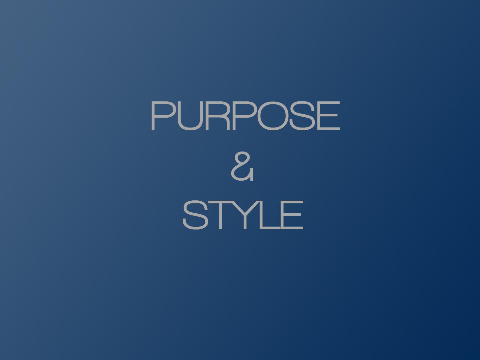 PowerPoint Design – 2 – Purpose