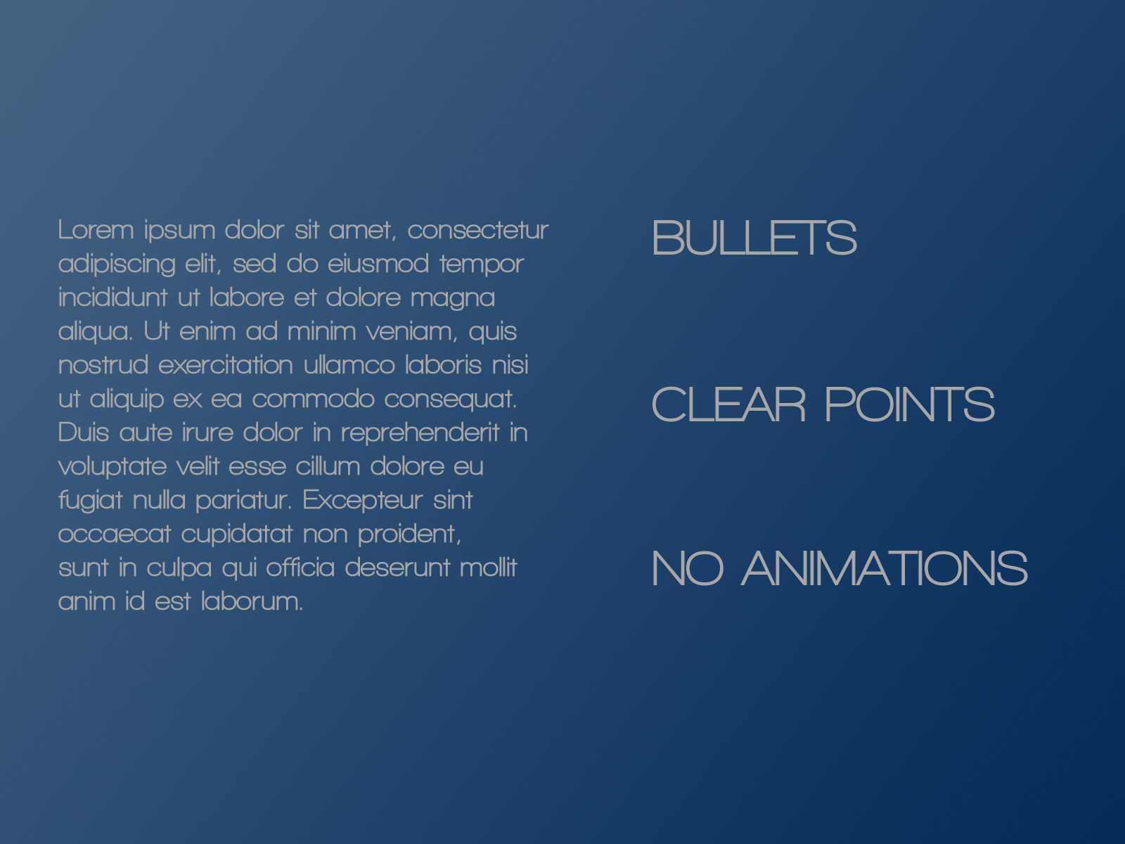 PowerPoint Design – 3 – Text